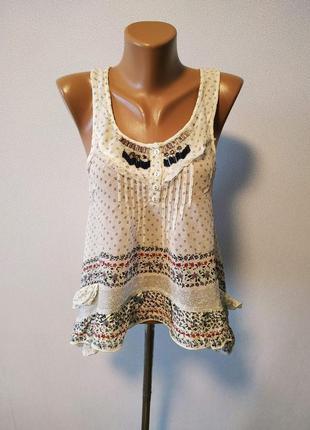 Интересная блуза с декором / большая распродажа!