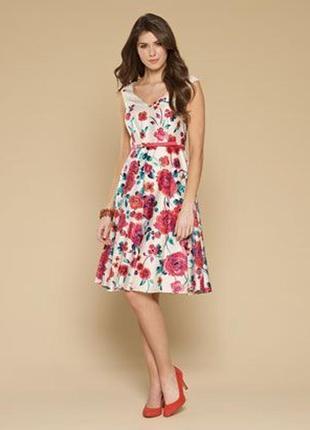 Платье новое шикарное цветочное monsoon uk 12/40/m