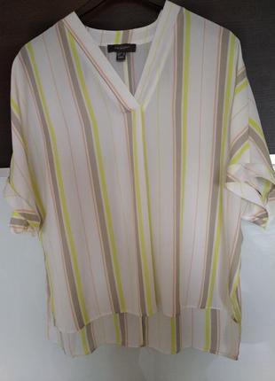 Легкая свободная  летняя блуза в полоску primark