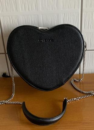 Кожаная сумка через плечо, в виде сердца heard