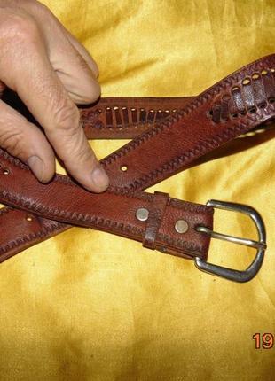 Кожаний стильний ремень пояс george джорж .90 см