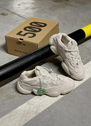 Женские кроссовки adidas yeezy 500 blush (рефлективные элементы)