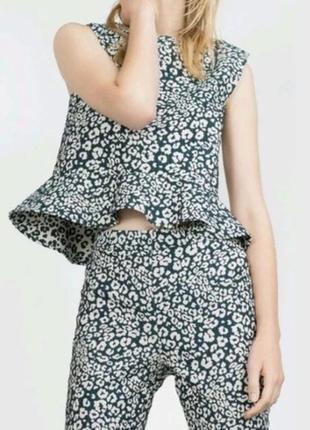 Шикарная блуза с баской zara❤️
