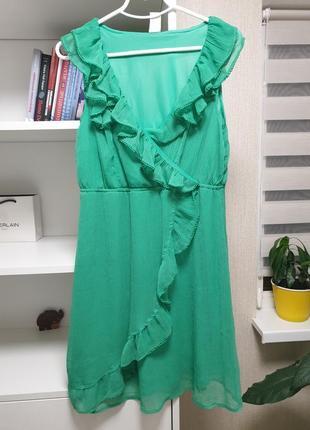 Зелёное платье! тренд сезона!