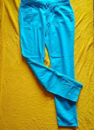 Джинсы okay голубого цвета ,, брюки okay бирюзового цвета2 фото