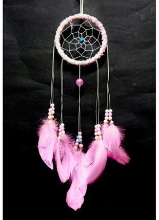 Ловец снов гламурный розовый кольцо