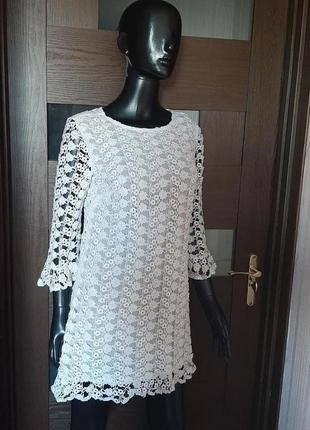 Ажурное платье из натурального кружева от topshop англия бренд