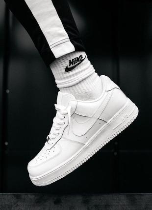 Шикарные кроссовки унисекс nike air force 1 07 white наложка