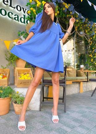 Трендовое легкое летнее платье