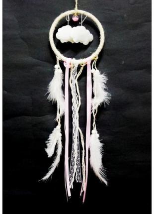 Ловец снов кольцо облака перья и кружево