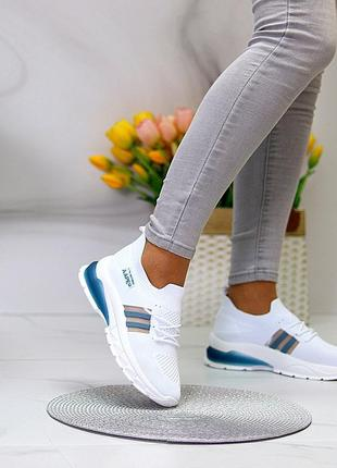 Белые текстильные кроссовки