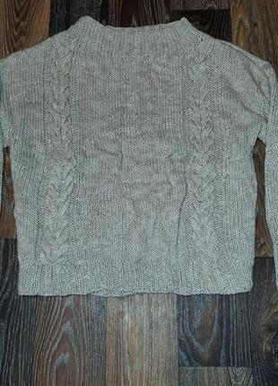 Широкий свитер кофта с косами