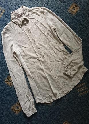 Стильная шелковая блуза/ молодежная рубашка gossip (италия) люкс