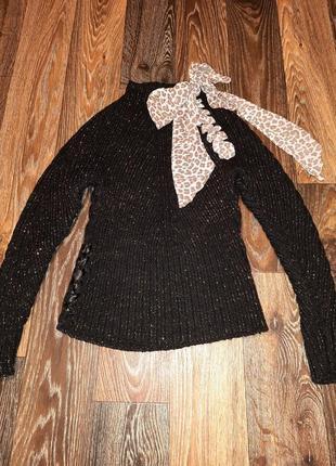 Блестящий свитер кофта с люриксом