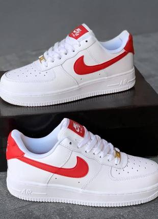 Женские кроссовки nike air force white red