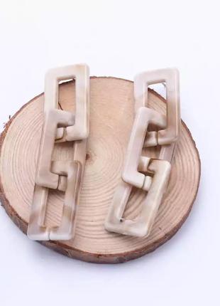 Тренд акриловые серьги подвески новые сережки цепь кульчики