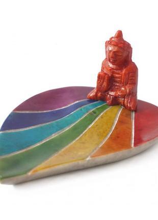 Подставка из агальнатолит под аромапалочки будда