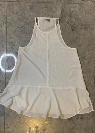 Распродажа все по 200 грн 🔥🔥🔥 белая шифоновая блуза без рукавов
