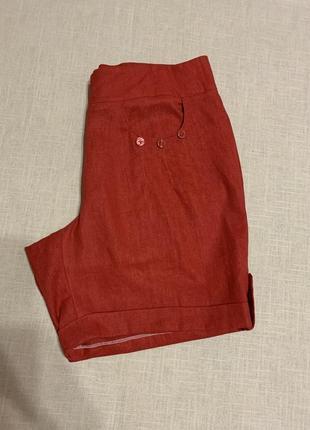 Натуральные шорты терракотового цвета