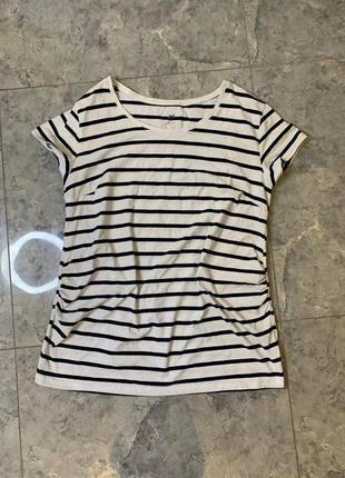 🆘🔥 ликвидация товара🆘🔥   белая футболка в синюю полоску для беременных