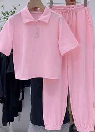 Женский костюм (футболка+джоггеры)