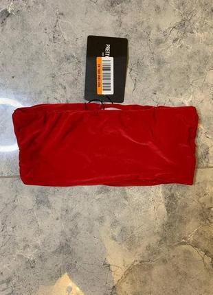 Распродажа все по 200 грн 🔥🔥🔥 красный кроп топ бандо