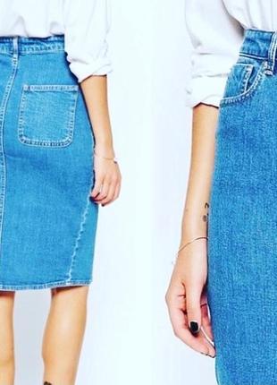 Юбка джинсова  миди