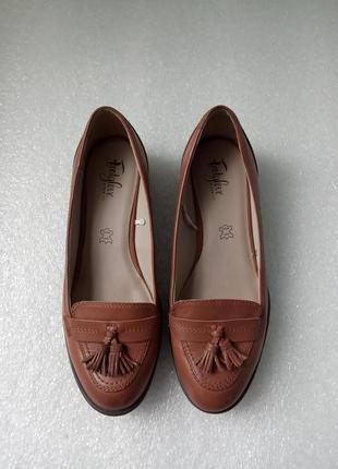 Кожаные туфли лоферы женские размер 39