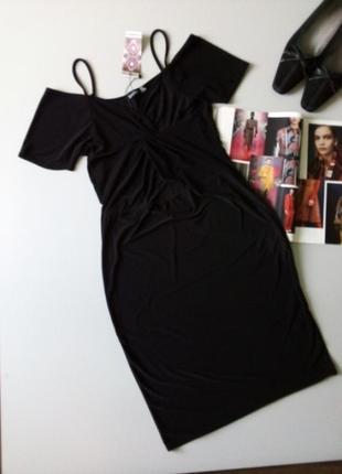 Новое платье миди с открытыми плечиками 💖💖💖0001