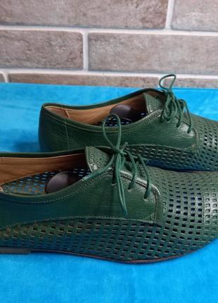 Кожанные летние туфли 38р