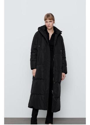 Теплое пальто пуховик куртка пальто zara