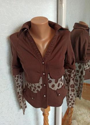 Пиджак накидка блуза