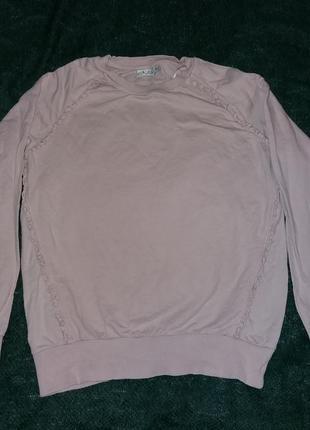 Свитер размер м. пыльно розового цвета