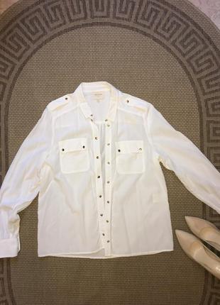 Шикарнач рубашкс  блуза из 100% щелка sezane paris