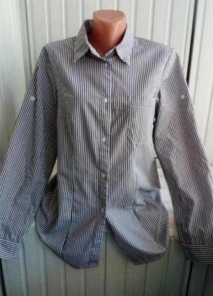 Стильная коттоновая рубашка блуза