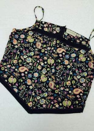 Летний топ блуза в цветы river island