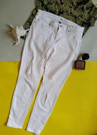 Белые укороченные джинсы gap