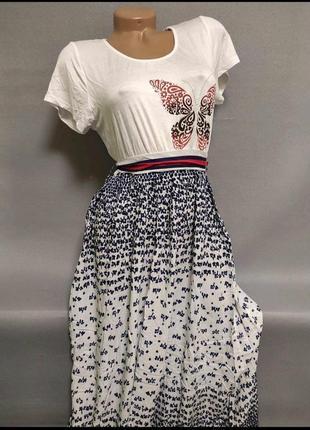 Шикарное летнее легкое платье в пол