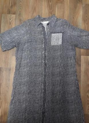 Турция! прекрасного качества лёгкая, платье - рубашка для пышных дам
