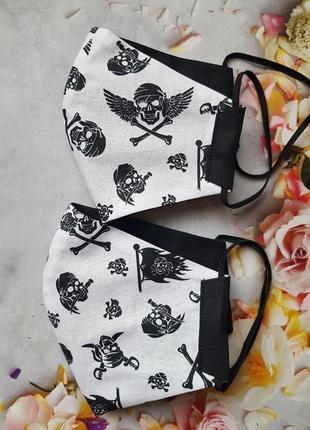 """Легкая двусторонняя многоразовая маска """"пиратская"""""""