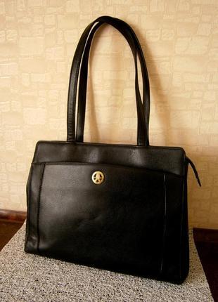 Красивая сумка из натуральной кожи для деловой женщины. pourchet. франция.