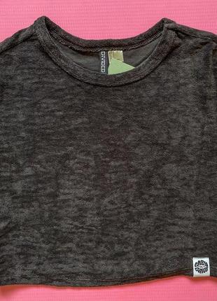 Футболка трендовая укороченная футболка жіноча від h&m.