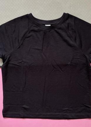 Футболка чорная женская плотная теплая h&m чорна базова футболка.