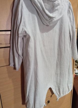Итальянская курточка пыльник из 100%льна
