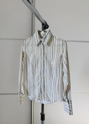Рубашка, светлая рубашка в полоску, летняя рубашка, kronk.