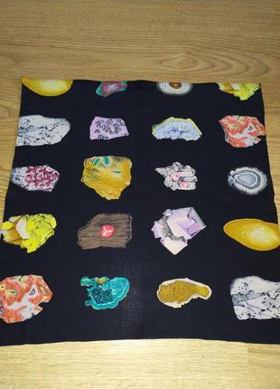 """Фирменный платок гаврош """"драгоценные камни"""" шелк, роуль, швейцария"""