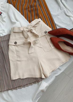 Льняные шорты f&f