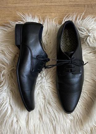 Натур. кожаные туфли оксфорды