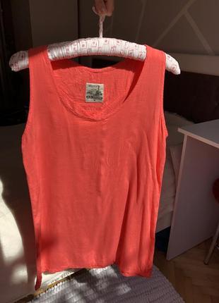 Майка топ футболка оранжевая
