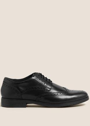 Натур. кожаные броги туфли оксфорды